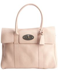 Mulberry Pink Pebbled Leather Bayswater Bag - Lyst