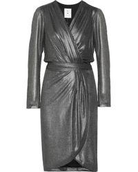 Day Birger Et Mikkelsen Metallic Chiffon Wrap Dress - Lyst