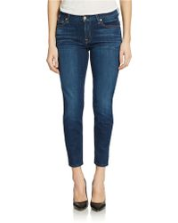 7 For All Mankind Kimmie Contour Cropped Jeans - Lyst