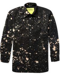 Raf Simons Handbleached Cotton Shirt - Lyst
