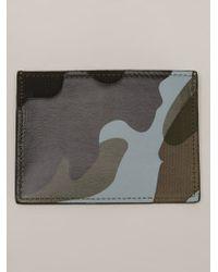 Valentino Black Camouflage Cardholder - Lyst