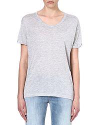 Zoe Karssen Boxfit Jersey Tshirt Grey - Lyst