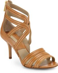 Michael Kors Sidney Strappy Leather Sandals - Lyst