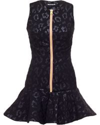 House Of Holland Black Leopard Scuba Dress - Lyst