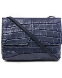 Vince - Blue Baby Croc-embossed Leather Bag - Lyst