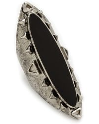 Jules Smith Black Stone Ring Silverblack - Lyst