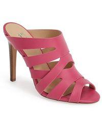 Joe's Jeans 'Identity' Cage Mule Sandal pink - Lyst