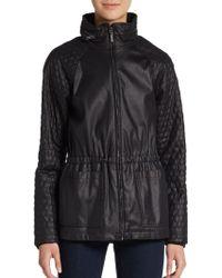 Catherine Catherine Malandrino Thompson Faux Leather Jacket - Lyst