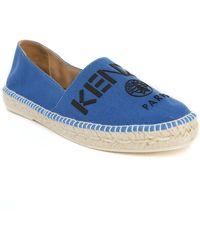 KENZO | Blue Embroidered Paris Logo Espadrilles | Lyst