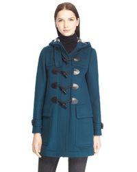Burberry Brit - 'finsdale' Wool Duffle Coat - Lyst