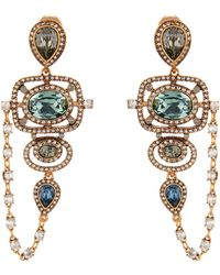 Oscar de la Renta Goldplated Crystal Earrings gold - Lyst