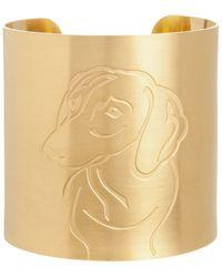 K Kane - 18k Gold-plated Dachshund Dog Cuff - Lyst