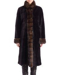 The Fur Salon | Reversible Mink & Sable Fur Coat | Lyst