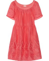Collette by Collette Dinnigan | Embroidered Ramie Dress | Lyst