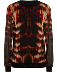 Roberto Cavalli Flame Print Pullover - Lyst