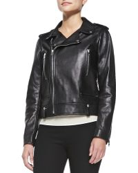 Joseph Ryder Leather Moto Jacket - Lyst