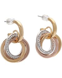 Michael Kors Collection Tritone Statement Earring - Lyst