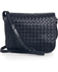 Bottega Veneta Small Woven Flap Shoulder Bag - Lyst