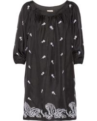 Collette by Collette Dinnigan - Embroidered Washedsilk Dress - Lyst