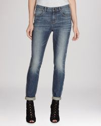 Karen Millen Jeans - Faded Side Stripe In Dark Blue - Lyst
