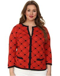 Pendleton Plus Size Bias Plaid Cardigan - Lyst