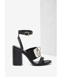 Nasty Gal Unif Vault Leather Heel - Lyst