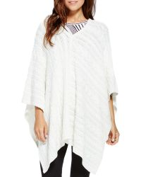 Two By Vince Camuto - Cable Knit Poncho - Lyst
