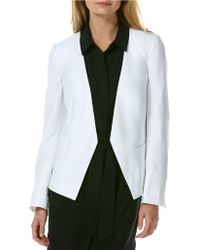 Laundry by Shelli Segal Pleated-Back Soft Jacket - Lyst