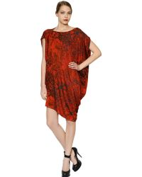 Vivienne Westwood Anglomania Draped Printed Viscose Jersey - Lyst