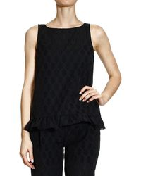Patrizia Pepe Black Top - Lyst