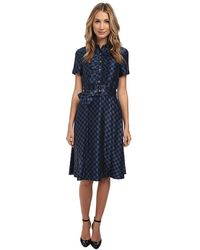 Marc By Marc Jacobs Checkerboard Satin Dress - Lyst