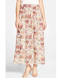 Two By Vince Camuto | Floral Print Maxi Skirt | Lyst