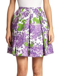 Michael Kors Lilac-Print Skirt - Lyst