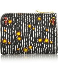 House of Holland | Stuff Embroidered Printed Leather Shoulder Bag | Lyst