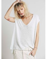 Free People Womens Easy Tea V-Neck Sweater - Lyst