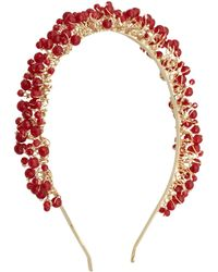 Rosantica - Gold-Plated Ruby Uartz Headband - Lyst