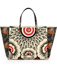 Valentino Covered Mixed-Floral Tote - Lyst