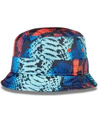 House of Holland Blue Snake Bucket Hat - Lyst