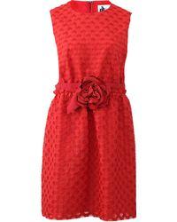 Lanvin Fil Coupe Dress - Lyst