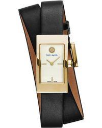Tory Burch Buddy Signature Double-Wrap Watch - Lyst