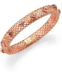 Gucci Diamantissima 18K Rose Gold Studded Bangle Bracelet - Lyst