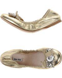Miu Miu | Ballet Flats | Lyst