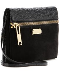 Burberry London Balmoral Leather and Suede Shoulder Bag - Lyst