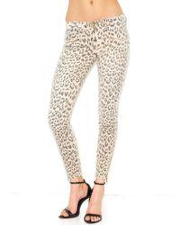 Current/Elliott The Soho Zip Stiletto In Stone Leopard - Lyst