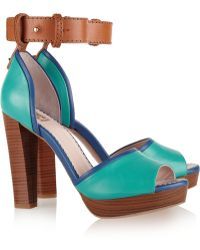 M Missoni Colorblock Leather Platform Sandals - Lyst