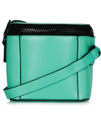 Topshop Womens Mini Chunky Zip Crossbody Bag Aqua - Lyst