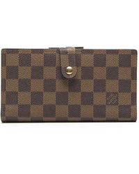 Louis Vuitton Pre-owned Damier Ebene French Purse Wallet - Lyst