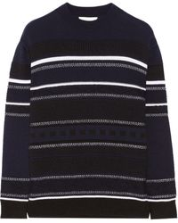 3.1 Phillip Lim Jacquard-Knit Wool And Marten-Blend Sweater - Lyst