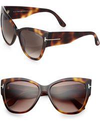 Tom Ford 57mm Cats-eye Sunglasses - Lyst