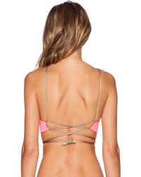Indah - Hapa Loop and Lace-Up Top - Lyst